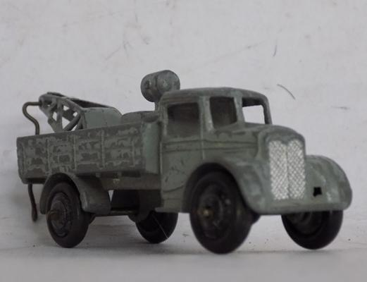 Early vintage dinky diecast truck with crane