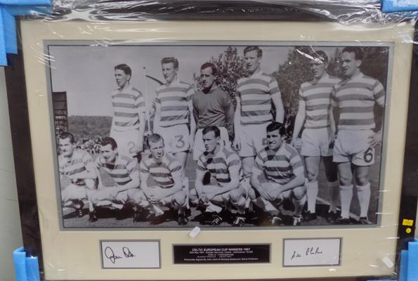 Celtic European cup winners 1967 photograph-signed by John Clark