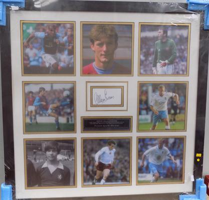 Aston Villa legends-personally signed by Allan Evans with COA