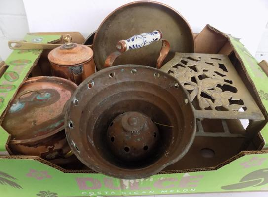 Box of copperware