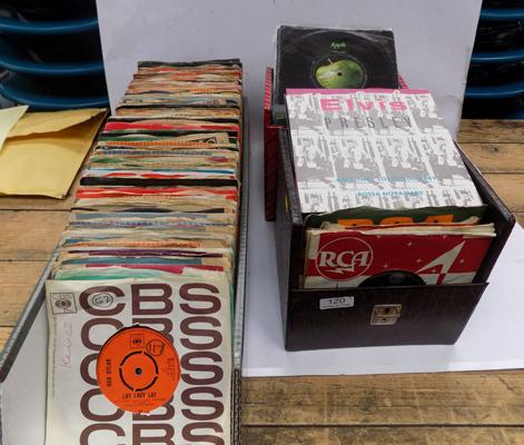 Three boxes of 1960's singles