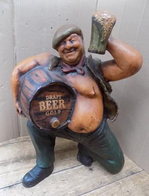 "Draft beer advertising man - 22"" approx."