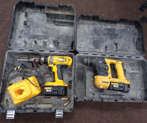 2 Dewalt drills