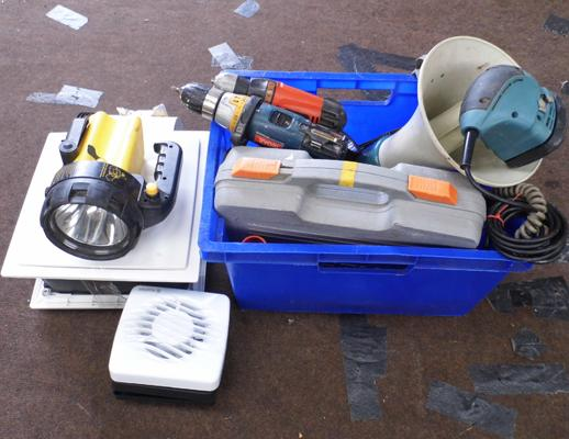 Joblot of tools incl. drills etc.