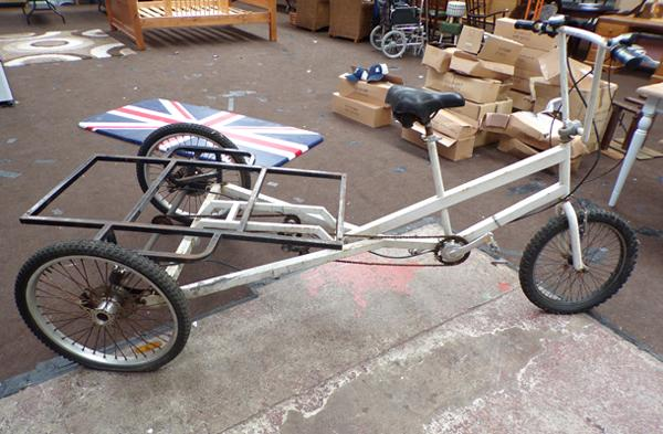 Large 3 wheeled trike, 6 gears, disc brakes to rear - ideal advertising project