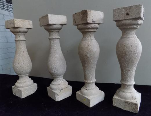 4 very heavy stone effect plinths