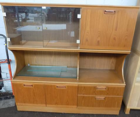 Retro sideboard with display case