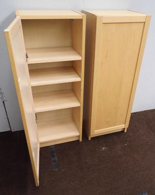 Two IKEA storage cupboards