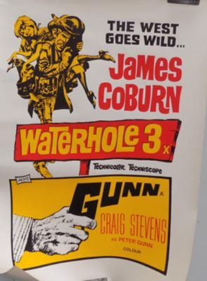 Original poster 'Waterhole 3' starring James Coburn