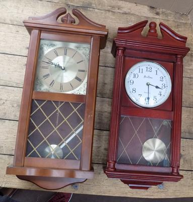 Bentima and London clock co. wall hanging clocks