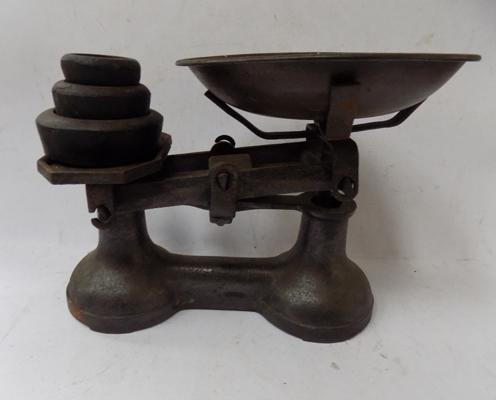 Cast iron scales and weights