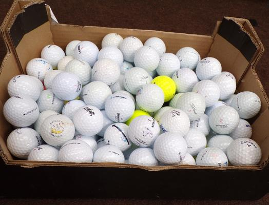 Over 140 golf balls incl. Stiriox, Calaway twist and Taylor made