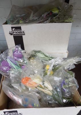 3 boxes of mixed artificial flowers
