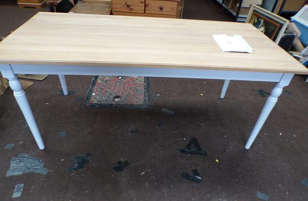 Marlow dining table, new, never used -  approx size 3 feet by 6 feet