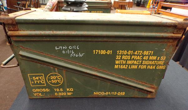 Ammo box, 40mm PRAC h & K GMG size