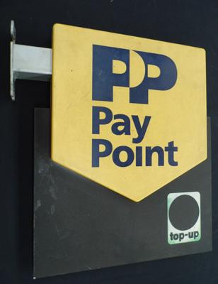 PP Pay Point Sign