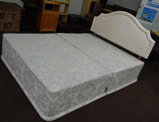 Double Divan bed and headboard