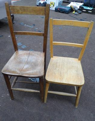 2 x school chairs