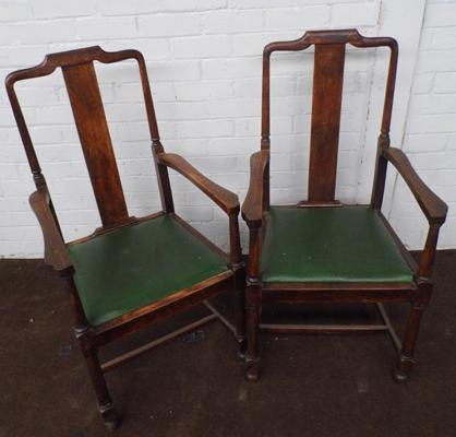 2 x large conference carver chairs