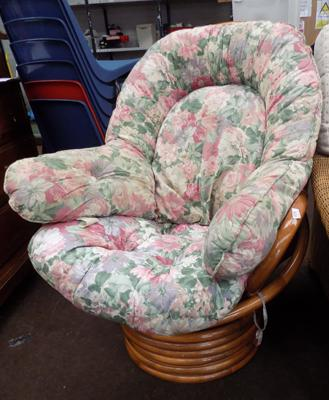 Swivel cane chair