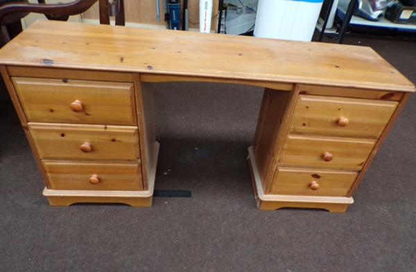 Pine dressing table - 2 x three drawers