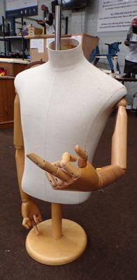 Tailor's display dummy - fully articulated