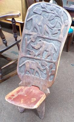 African tribal chair