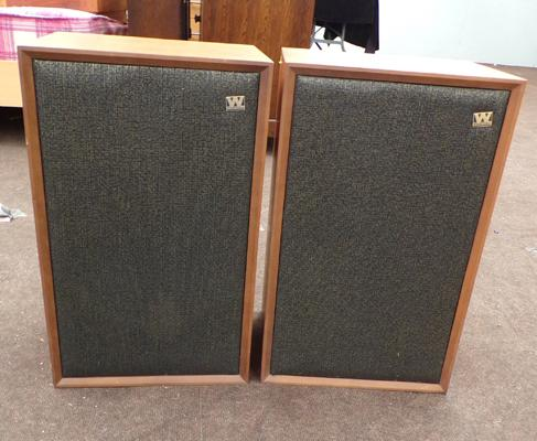 Pair of large retro Wharfedale speakers
