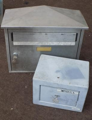 Outside letterbox & Omega safe with key