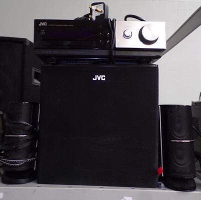 JVC compact component system NX-F30 front surround with 2.1. speakers