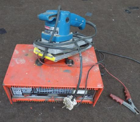 Battery charger & Makita electrical sander