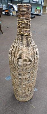 Wicker, bottle style flower stand, 45 inches tall