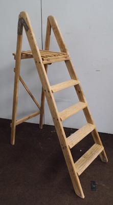 Dipped pine step ladders