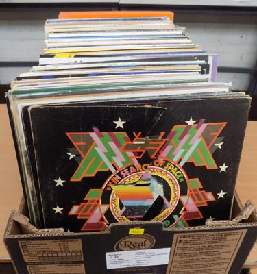 Box of LPs - Rock, Pop etc..., King Crimson, Led Zeppelin, Yes, Hawkwind etc...