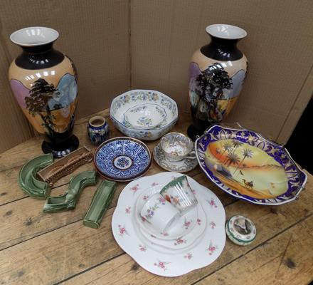 Collection of named vintage + antique ceramics