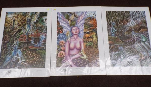 3 limited edition prints, signed by the artist, D. Scott