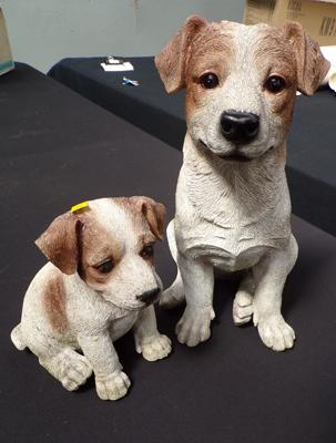 Father and son Jack Russell's in resin