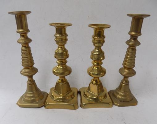 4 brass candle sticks