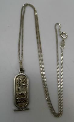 Silver chain with Egyptian pendant