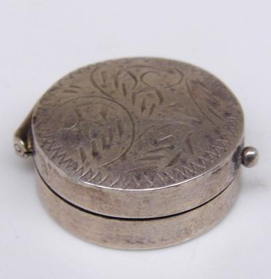 Sterling silver pill box