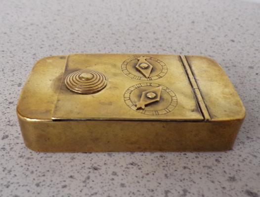 Georgian brass combination snuff box code 95