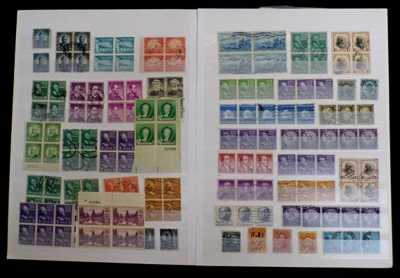 Stockbook of early USA stamps, mint & used