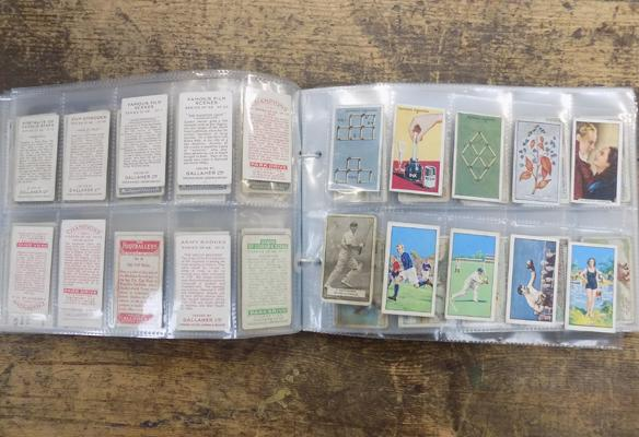 Pages of mixed cigarette cards