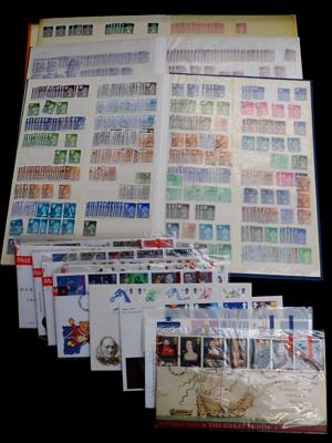 3 albums of stamps + First Day Covers