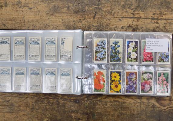 Nine full sets of cigarette cards