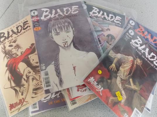 20 vintage 1980's adult comics in sleeves - Blade, Predator