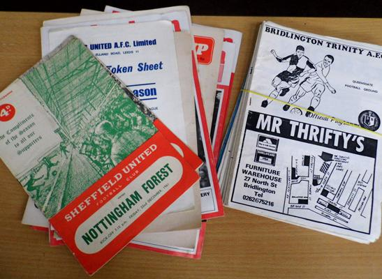 Selection of vintage football programmes, incl. early 1960's