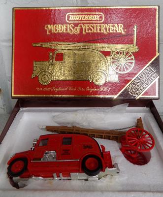 Model of Yesteryear, special edition 1936 Leyland Cub fire engine FK-7
