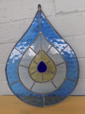 Leaded glass - balloon shape