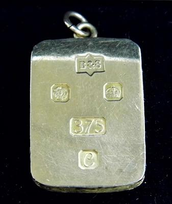 9ct heavy gold pendant/ ingot
